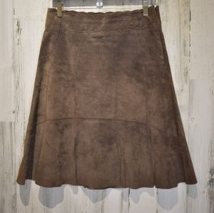 Cabi brown suede skirt